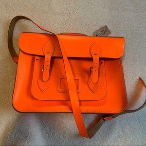 Neon orange Cambridge Batchel RARE COLOR
